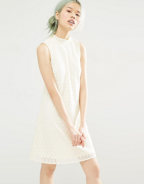 Monki Lace Shift Dress