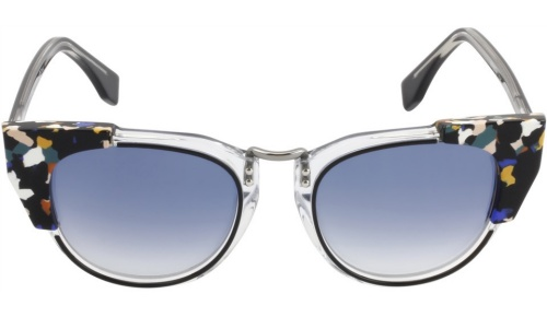 Fendi Galassia Marble Block Cat-Eye Sunglasses