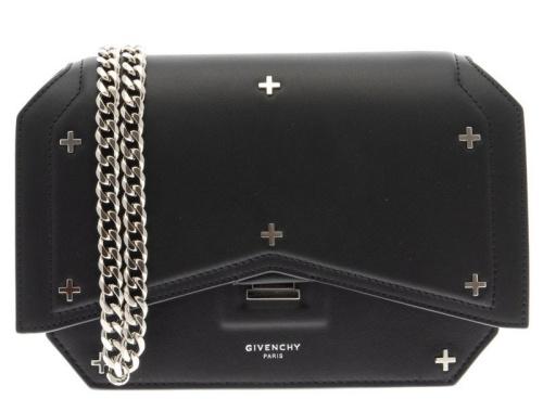 Givenchy Bow-Cut Cross Embellished Chain Shoulder Bag