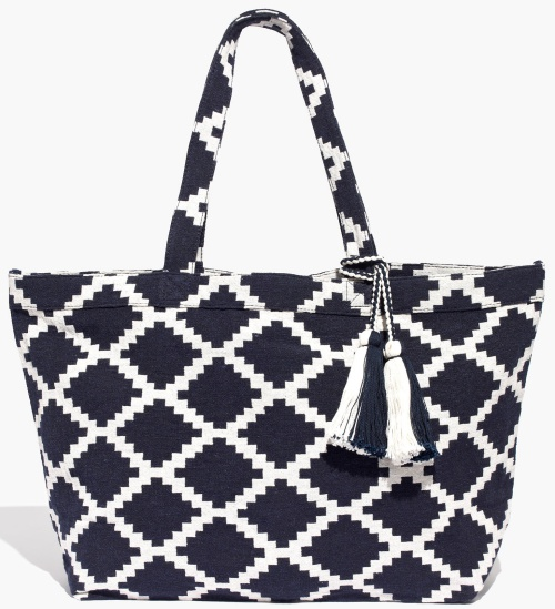 The Amalfi Jacquard Tote Bag