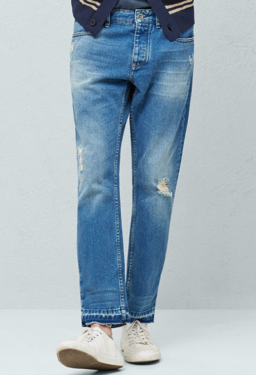 Slim-Fit Cropped Rick Jeans