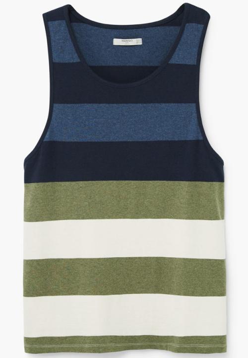 Striped Strap T-Shirt
