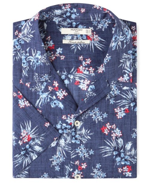 Regular-Fit Floral Print Shirt