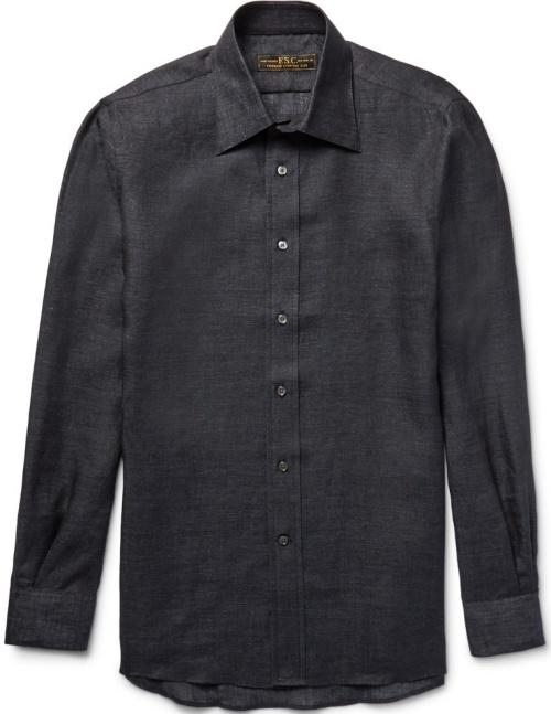 Freemans Sporting Club Slim-Fit Linen Shirt