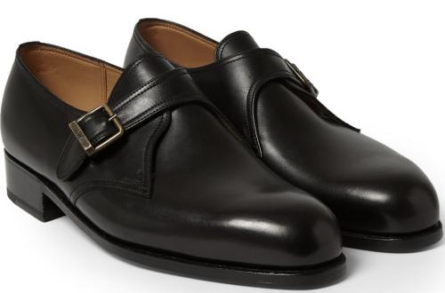 J.M. Weston 531 Leather Monk Strap Shoes