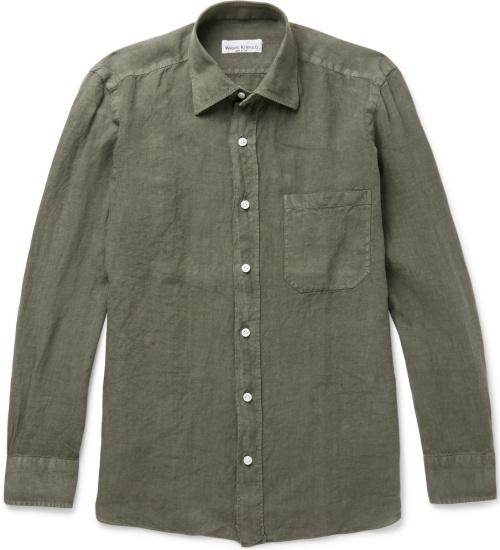 Rubinacci Slim-Fit Linen Shirt