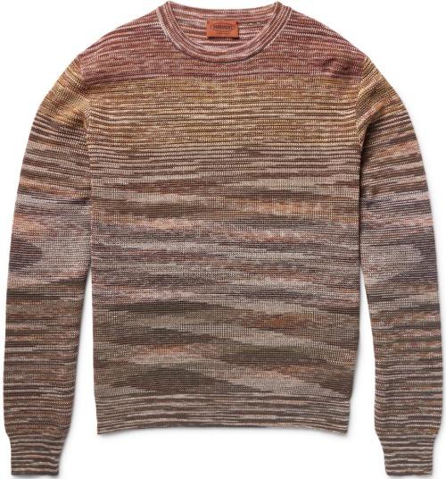 Missoni Crochet-Knit Cotton and Linen-Blend Sweater