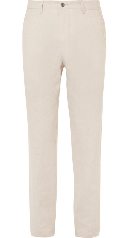 Rubinacci Luca Slim-Fit Linen Trousers