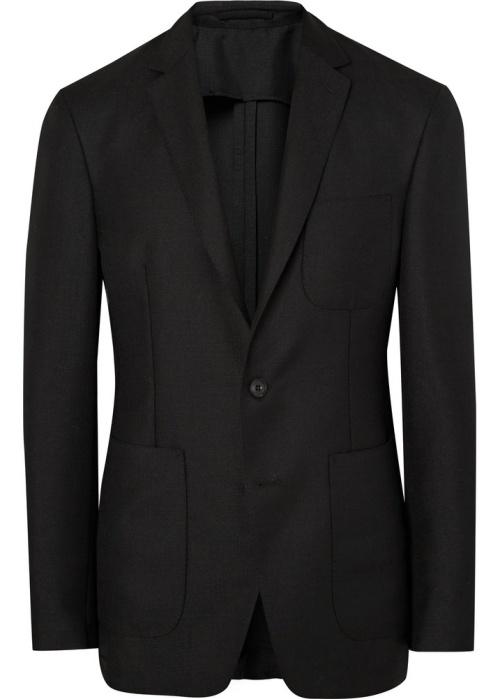 Burberry London Black Slim-Fit Mohair and Wool-Blend Hopsack Blazer