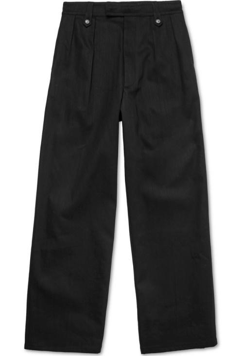 Raf Simons Wide-Leg Cotton-Blend Trousers