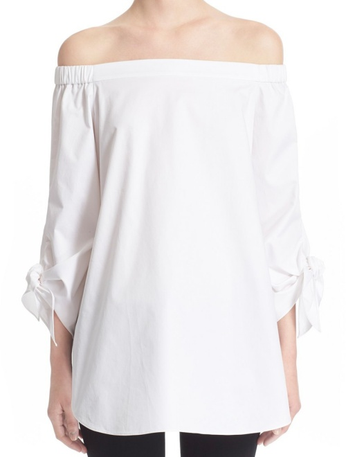 Tibi Off-the-Shoulder Cotton Tunic
