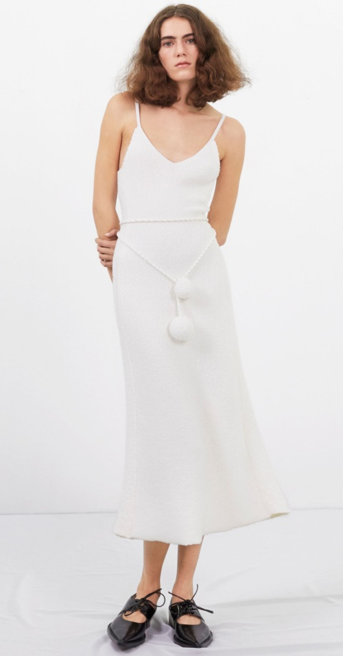 Victoria Beckham Boucle Flessage Midi Dress