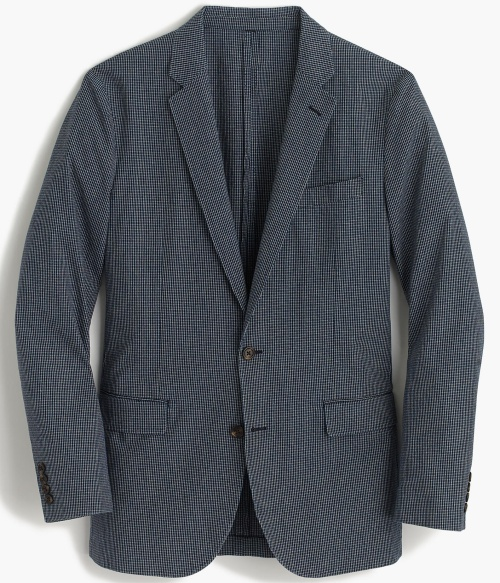 Ludlow Blazer in Microcheck Cotton