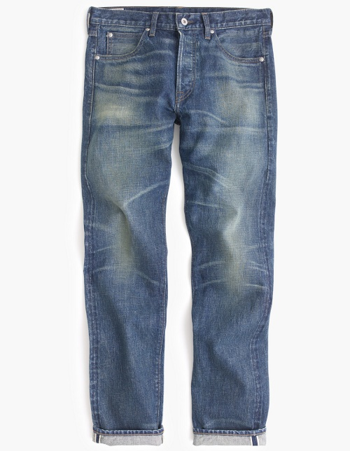 Wallace & Barnes Straight Selvedge Jean in Brighton Wash