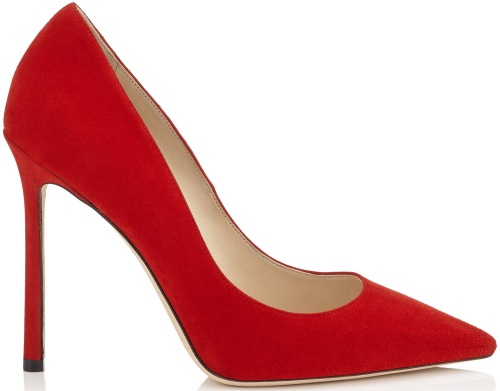 Romy Red Suede Pointy Toe Pumps