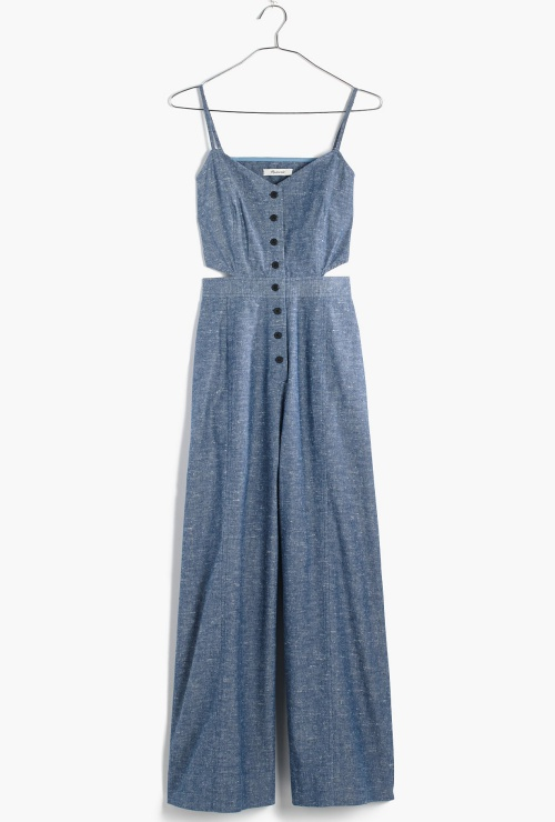 Chambray Cutout Jumpsuit
