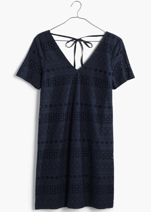 Embroidered Eyelet Tunic Dress