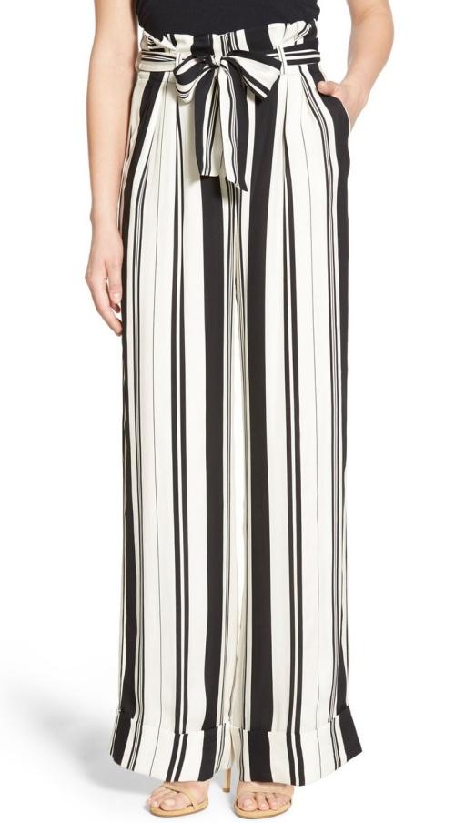 Olivia Palermo + Chelsea28 Stripe Wide Leg Pants