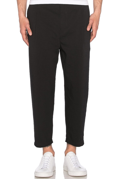 Helmut Lang Cropped Pleated Trouser