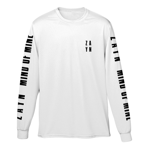 Stacked Logo White Long Sleeve